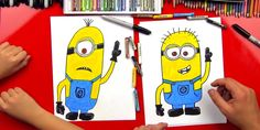 How to draw a minion!