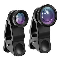 VicTsing 3in1 Clip 180 Degree Fisheye Lens Plus 067X Wide Angle Lens Plus Micro Lens Camera Lens Kits for iPhone iPad Samsung and Phones with Flat Camera  Black >>> You can get more details by clicking on the image.Note:It is affiliate link to Amazon.