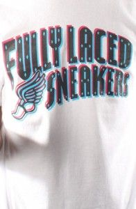 Fully Laced – The Fully Laced Sneakers Tee (Wht/3D)