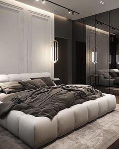 Black Bedroom Design, Luxury Bedroom Design, Room Design Bedroom, Home Room Design, Dream Home Design, Home Bedroom, Bedroom Decor, Dream House Interior, Luxury Homes Dream Houses