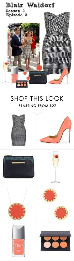 """""""Blair Waldorf - Gossip Girl - S2 E2 - Party"""" by deathcab4kuz on Polyvore featuring WithChic, Christian Louboutin, LSA International, House of Harlow 1960, Christian Dior, women's clothing, women's fashion, women, female and woman"""
