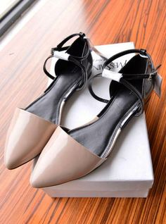 2014 latest spring and summer high fashion shoes pointed flat sandals