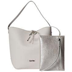 Buy Calvin Klein Stef Small Hobo Bag, White Online at johnlewis.com