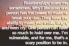 I hate this vulnerability. Too many people have let me down.