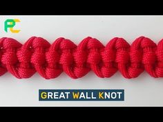 (17) Paracord Bracelet Great Wall Knot - YouTube