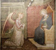 Spinello Aretino-Annunciazione,affresco, cm 239 × 256   1381 - 1385  Chiesa di S. Domenico, Arezzo