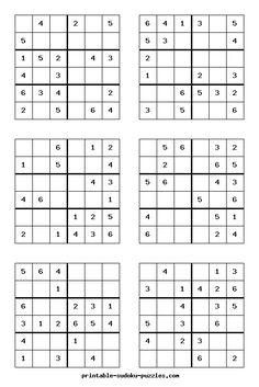 Imprimir sudokus para nios  mates  Pinterest  Math Math class