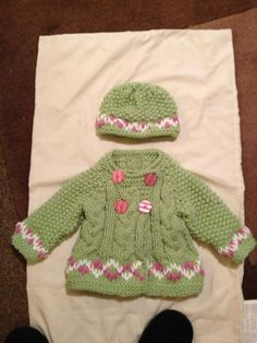 Hand knitted cardigan/jacket