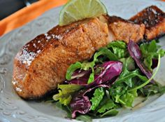 glazed-salmon-over-greens-mountainmamacooks