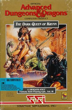 The Dark Queen of Krynn finally delivered an experience on the PC comparable to the Amiga. A great end for a great trilogy. Vintage Video Games, Retro Video Games, Vintage Games, Retro Games, Vintage Toys, Video Game Posters, Video Game Art, Pac Man, Pen And Paper Games