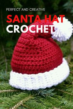 Exceptional Stitches Make a Crochet Hat Ideas. Extraordinary Stitches Make a Crochet Hat Ideas. Crochet Santa Hat, Crochet Christmas Hats, Crochet Baby Beanie, Crochet Beanie Pattern, Christmas Crochet Patterns, Holiday Crochet, Diy Crochet, Crochet Crafts, Crochet Projects
