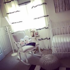 Don't you just want to cuddle up in here? Baby Girls black, white and gold nursery decor theme. Monochrome nursery decor for baby girl.