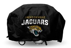 Jacksonville Jags Jaguars Economy Barbecue/BBQ Grill Cover (Black)