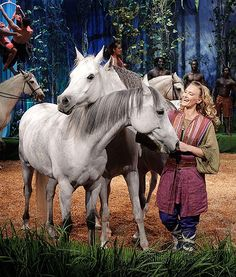 """Cavalia's Odysseo members are pictured on the """"The Tonight Show,"""" looking all gorgeous. Such pretty steeds!"""