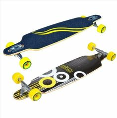 Amazon.com: Atom 36-Inch Drop-Through Longboard, Black/White/Yellow: Sports & Outdoors