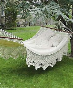 I'd like a victorian hammock and some lovely shade trees to hang it from... add an iced tea and a good book.