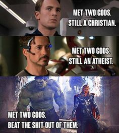 "22 Pictures That Only Fans Of ""The Avengers"" Will Find Funny And this perfect summary. Marvel Avengers, Marvel Comics, Films Marvel, Marvel Girls, Avengers Memes, Marvel Funny, Captain Marvel, The Avengers Assemble, Hulk Funny"
