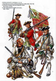 Guerre de Sept Ans: troupes des soldats etrangers au service des colonies…