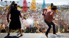 Get your music fill at the annual Coachella Valley Music and Arts Festival. The annual 2-weekend, 3-day fest kicks off in Indio, CA, with more than 150 performances set for 2014. OutKast, Muse and Arcade Fire headline this year's show.