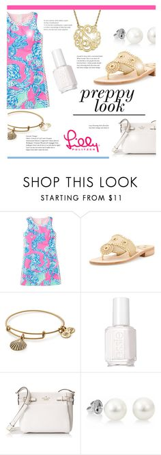 """Preppy Look"" by littledesigns ❤ liked on Polyvore featuring Jack Rogers, Alex and Ani, Essie, Kate Spade and Lilly Pulitzer"