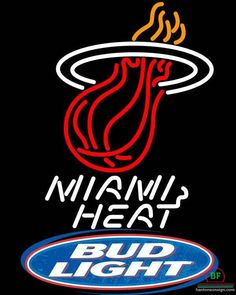 Bud Light Miami Heat Neon Sign NBA Teams Neon Light