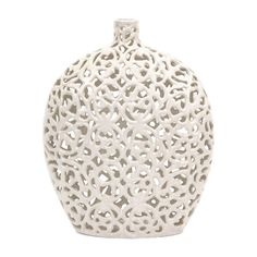 Vintage inspiration and sculptural design are masterfully paired in this eye-catching vase, perfect for your mantel, console, or display cabinet.