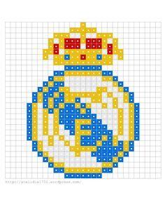Pyssla (hama beads), escudos de equipos de fútbol   Desvaríos de ...