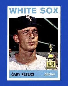 "1964 TOPPS GARY PETERS ""1963 ALL-STAR ROOKIE TEAM"" BASEBALL CARD #130 WHITE SOX 