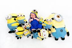 Newborn minion Despicable Me photography  Kansas City lifestyle newborn photography lifestyle newborn photography Kansas City newborn photograph By Darbi G Photography More at www.DarbiG.com