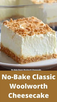 Fun Baking Recipes, Sweet Recipes, Easy Cheesecake Recipes, No Bake Cheesecake, Woolworth Cheesecake Recipe, No Bake Eclair Cake, Icebox Cake Recipes, Chocolate Cheesecake, No Bake Cake