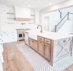 Kitchen Redo, Home Decor Kitchen, Kitchen Remodel, Kitchen Island Sink, Stove In Island, Kitchen Interior, Cabinet Island, Kitchen Pantry Design, Farmhouse Kitchen Island