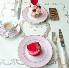 Coffee & Pastries at Ladurée- a French luxury bakery and sweets maker house created in 1862 in Paris, France