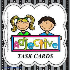 These Adjective Task Cards are a great supplement to your current curriculum. These cards are a great way to reinforce the skill of adjectives. Includes24 color task cards 24 black/white versionAnswer keyScoring sheetPlease follow my store to be the first to know about new products as they are released!Custom Core CreationsNote:This item is a paid digital download.