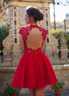 Classic Red Skater Dress for Men