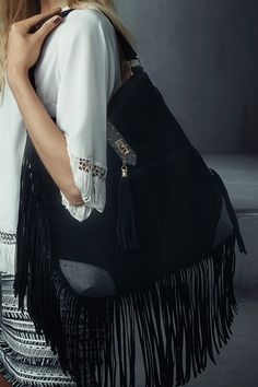 Complete a fringe outfit with even more fringe - like our Black Fringed Trim Bag. £24.99 #newlook #bags
