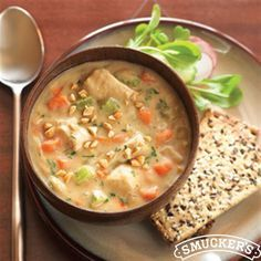 Peanut Butter Chicken Vegetable Soup from Smucker's®