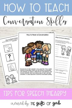This contains an image of: {{ pinTitle }} Communication Skills Activities, Social Skills Activities, Articulation Activities, Speech Therapy Activities, Language Activities, Social Skills Lessons, Speech And Language, Teaching, Middle School