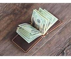 Wallet - Leather Wallet - Leather Money Clip Wallet Handmade Rustic Signature Style by JooJoobs. Full Grain Leather Wallet, Leather Money Clip Wallet, Handmade Leather Wallet, Leather Keychain, Mens Travel Wallet, Lost Wallet, Handmade Wallets, Minimalist Wallet, Signature Style
