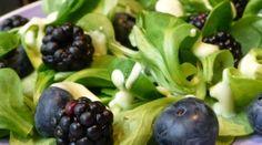 Bessen en bramen salade