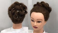 wedding hairstyles videos Beautiful Bun Hairstyle for Wedding Easy Trick Prom Ponytail Hairstyles, Hairstyles For Gowns, Girly Hairstyles, Wedding Bun Hairstyles, Twist Hairstyles, Easy Hairstyle, Hairstyles Videos, Short Hair Hacks, Short Hair Styles