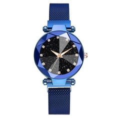 Jewelry & Watches :: Watches :: Women's Watches :: Luxury Starry Sky Stainless Steel Mesh Bracelet Watches For Women Crystal Analog Quartz Wristwatches Ladies Sports Dress Clock Mesh Bracelet, Bracelets, Bracelet Watch, Sky Watch, Popular Watches, Trendy Watches, Nice Watches, Swiss Army Watches, Stainless Steel Mesh