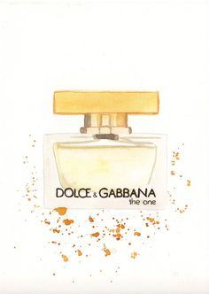 Dolce Gabbana The One Fragrance Watercolor perfume by MilkFoam, $30.00