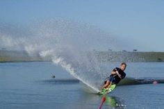 Nothing nicer than cutting water while slalom skiing