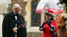The Queen leaves the Christmas Day service at St Mary Magdalene Church in Norfolk