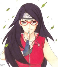 Sarada Uchiha | She has her father's smirk.
