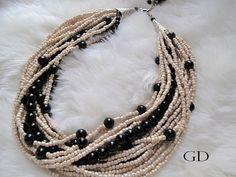 Bold Bridal Wedding Handmadechunky layered black by galladesign, $75.00