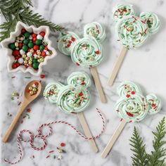 Treat Your Family to Holiday Mickey Meringue Pops | Disney Family