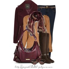 """""""Wine, Gold and Brown"""", created by jaycee0220 on Polyvore"""
