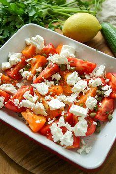 Roasted Feta and Tomato Lentil