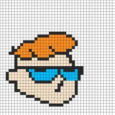 Group of: Dexters Labratory Fuse Bead Pattern | Perler Bead ...
